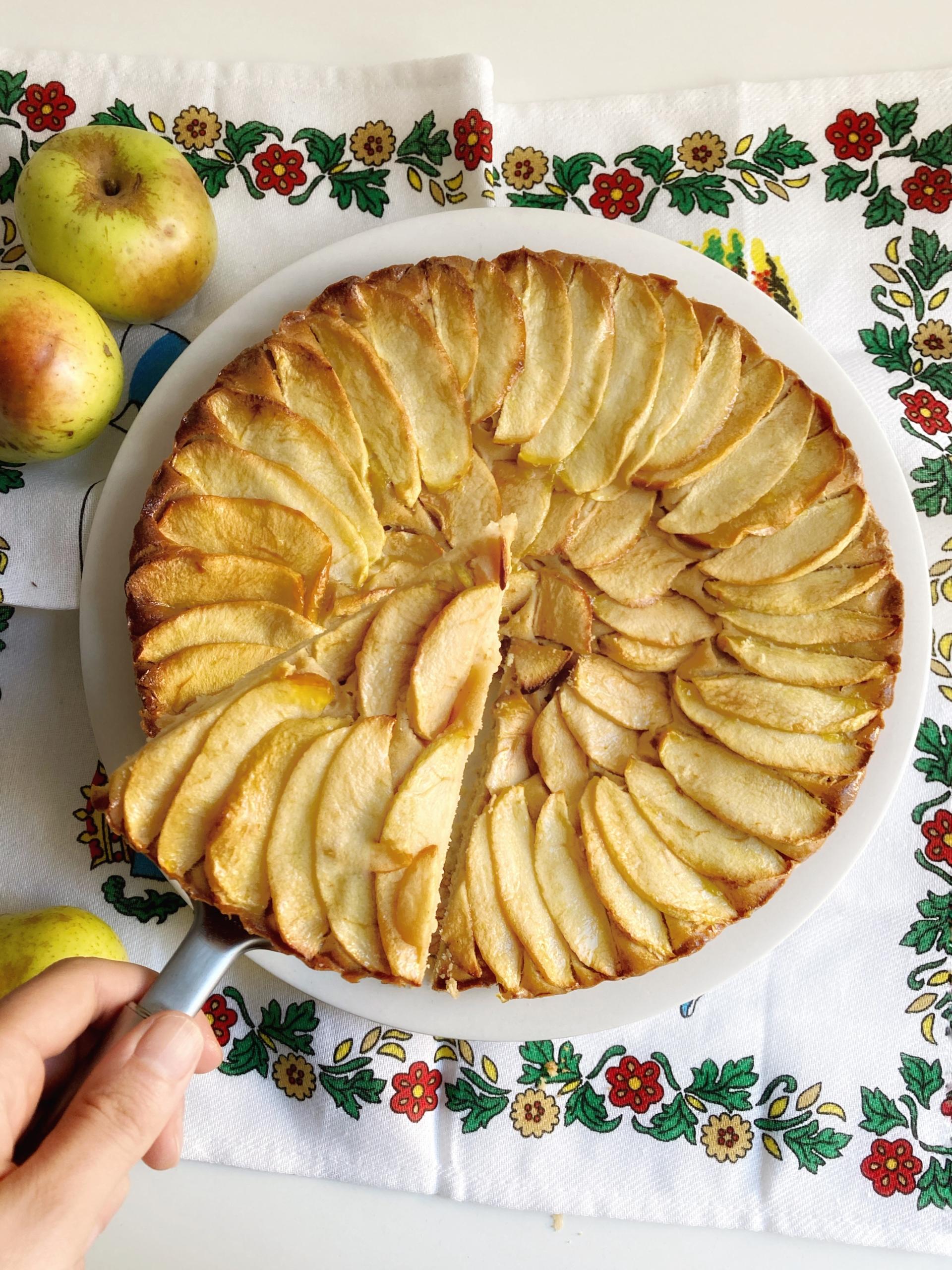 La receta tradicional de la tarta de manzanas