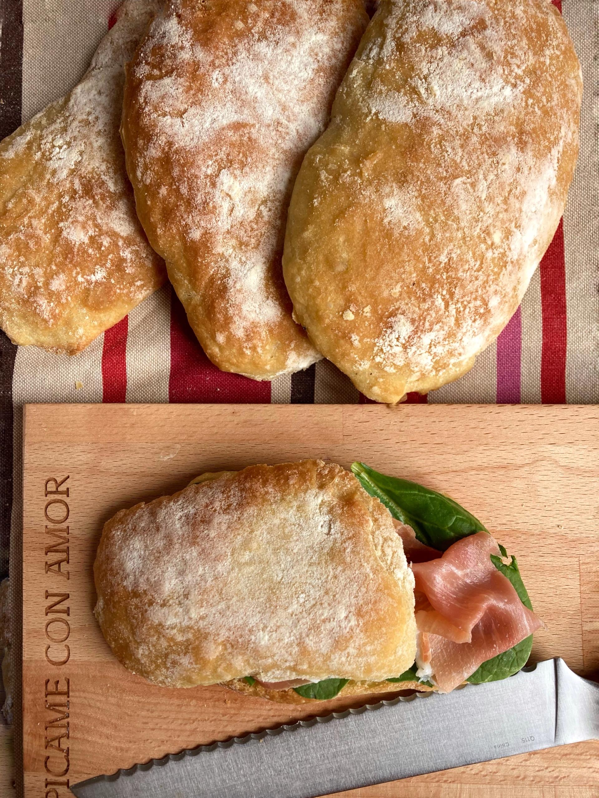La receta italiana del Pan Chapata