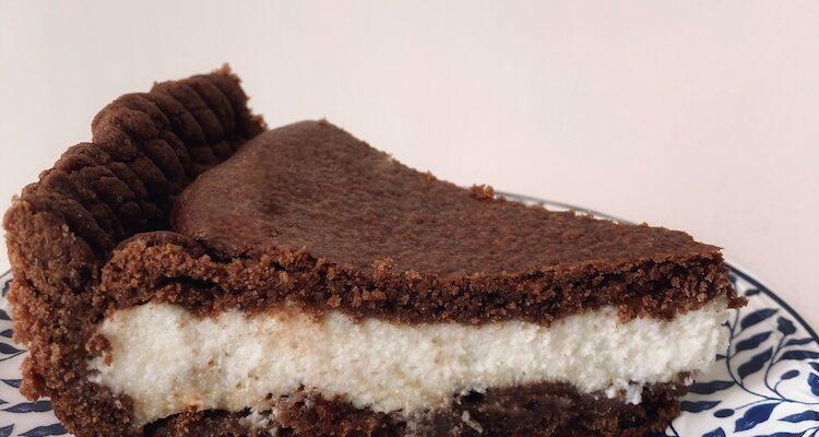 Tarta quebrada al chocolate con ricotta