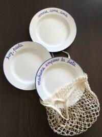platos estilo antiguo, abuelas, blancos | la Clandestina